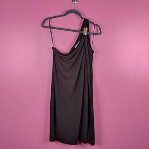 Michael Kors One Shoulder Brown Dress - Sz12 NWT